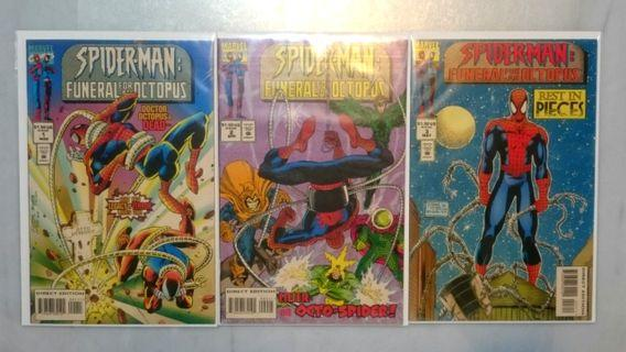 Spider-man: Funeral for an Octopus Complete Set #1 to #3
