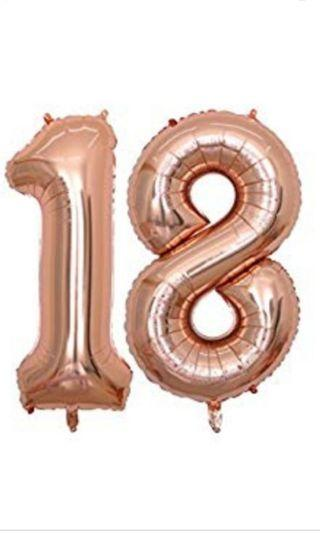 18 number foil balloon 16inch