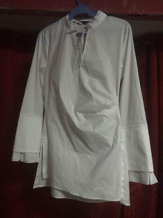 ZARA White Longsleeve Top/Dress