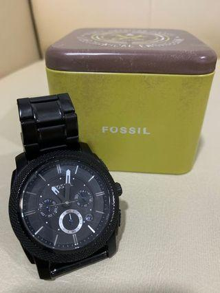 Original Fossil Machine Black Chronograph
