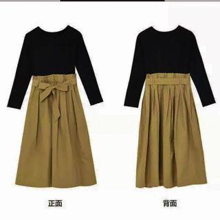 綁帶半身裙 A字裙
