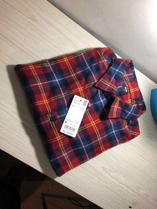Kemeja Flanel Uniqlo Flannel Long Sleeve Shirt