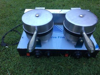 Electric Double Head Waffle Maker Machine