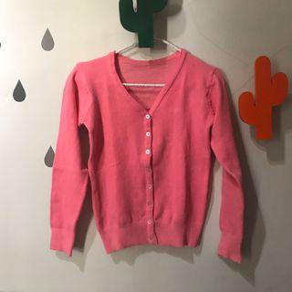 Cardigan Sweater Rajut Pink
