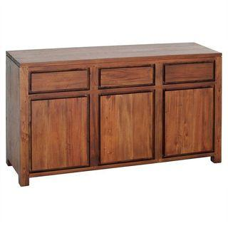 TeakCo.com SALE APR15-21 Teak Buffet Cabinet 3Dr 50% OFF