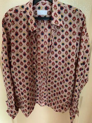 Prada Men's Long sleeve Pongé Shirt