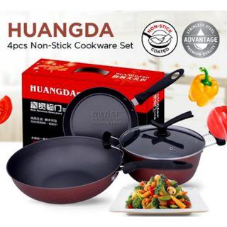 RC-Global 4-In-1 Non-Stick Frying Pan Frying wok Soup Pot (24, 24, 32 cm with 1 covers