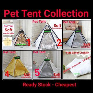 Cat Tent Cushion Bed Pet House Tent Kitten Puppy  Foldable Washable, non cat cage cat condo tree astronaut backpack pet carrier
