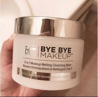 3-In-1 Bye Bye Make-Up Melting Balm Remover Cleansing Serum For Anti-Aging