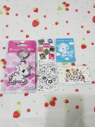 (5 Pcs) Tokidoki Limited Edition Ezlink Charms Cards Bundle Set