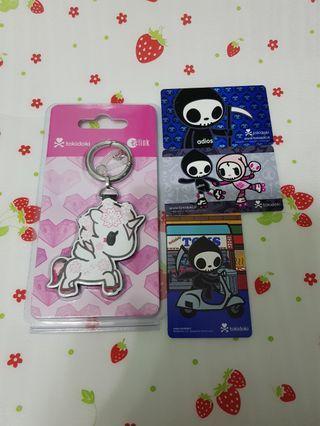 (4 Pcs) Tokidoki Hanako Sakura Limited Edition Ezlink Charms Cards Set