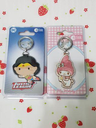 (2 Pcs) Wonder Woman My Melody Limited Edition Ezlink Charms