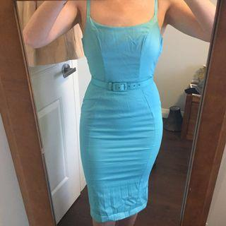 Pinup Couture blue Jayne dress - size small