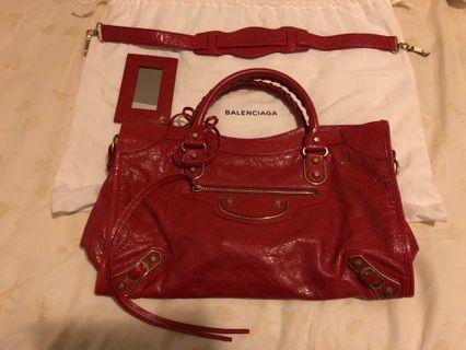 Balenciaga classic metallic edge city tote bag
