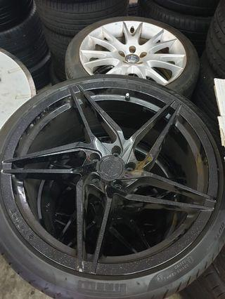 """STANCE 20"""" SPORTS RIMS WITH PRIELLI TYRES"""