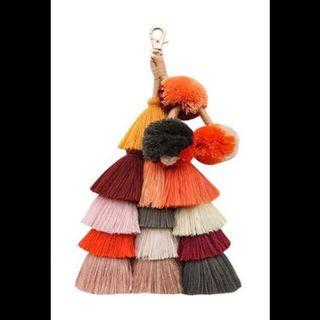 🚚 預購 超可愛 波西米亞風彩色流蘇毛球 吊飾