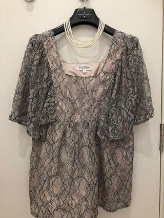 EAST-INDIA Company-pretty & soft silver laced blouse