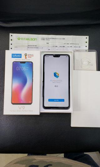 vivo v9 64gb 99.99%new 100%work original black 行貨黑色保養2020年