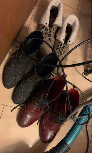 $20 PICK ANY OR ALL Various winter lace up ankle boots size 8