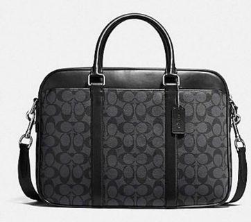 Coach男裝 men's perry briefcase