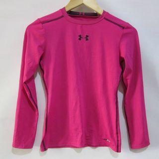 (12-14 girls or small ladies) Under Armour UPF50+ rash guard, super nice in actual, almost looks new