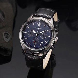 Jam tangan Armani leather strap