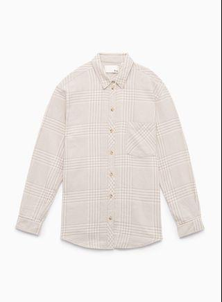Aritzia wilfred free 100% cotton flannel shirt