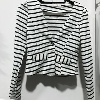 Stripes Cardigan Blazer