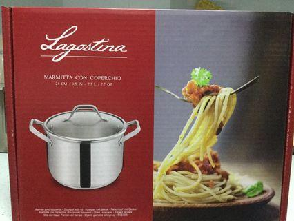 [FREE Qexpress Doorstep Delivery] Lagostina Stockpot with Lid (24cm/9.5inch/7.3litres)