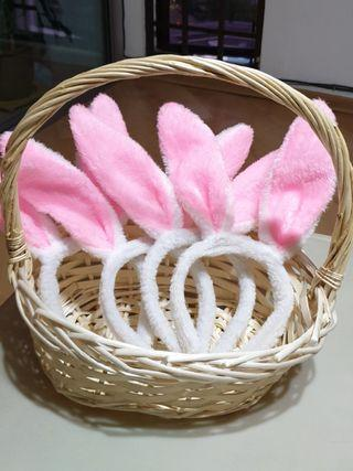 <FREE TO TAKE> Easter Day bunny hairbands and basket