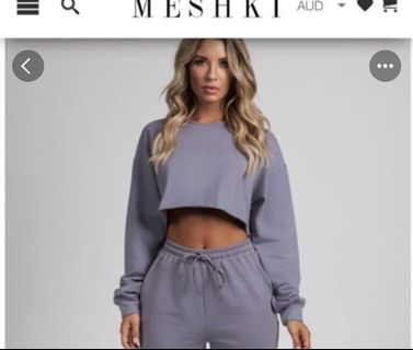 e4e36eaf17287 Meshki grey crop jumper