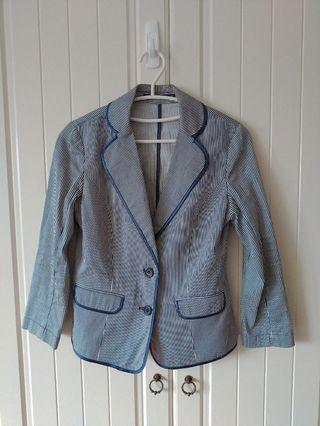 專櫃 Theme 條紋西裝外套