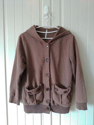 像被窩舒服保暖的棕色外套