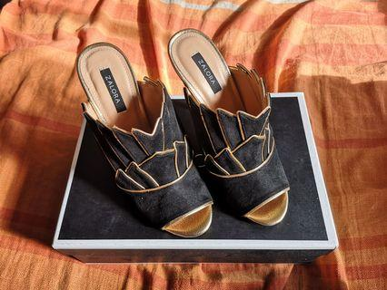 Zalora Layered Wing Detail Heels