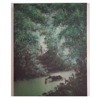 🚚 Water Buffalo Tranquillity Series Oil Painting #ENDGAMEyourEXCESS