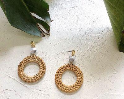 Rattle Marble Earrings BN