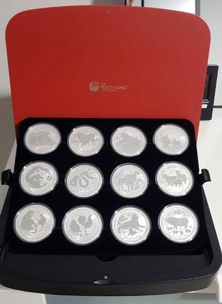 Perth Mint - 12 Lunar 1oz Silver Coin Series II