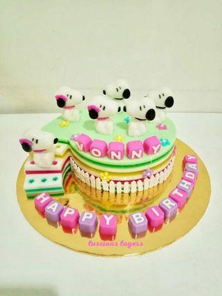 Snoopy jelly cake