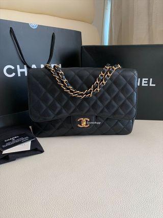 Chanel Jumbo Single Flap Bag Caviar Gold Hardware