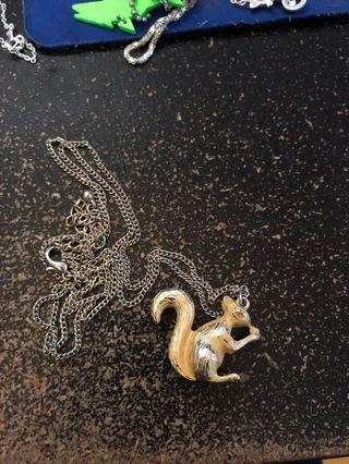 Yellow Squirrel Necklace