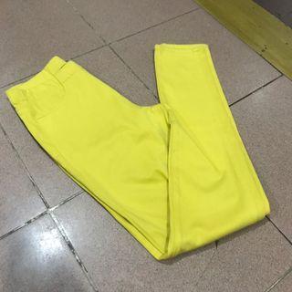 Uniqlo yellow Jeggings