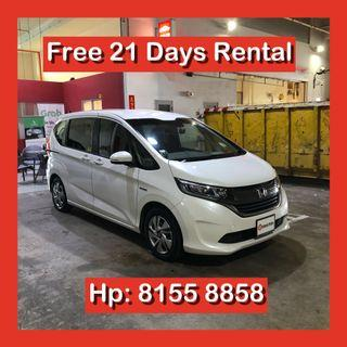 Honda Freed Hybrid Sensing MPV Grab Car Go Jek Rental ( Not Voxy Noah Sienta Prius Alpha Plus )