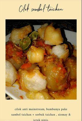 Cilok sambal taichan