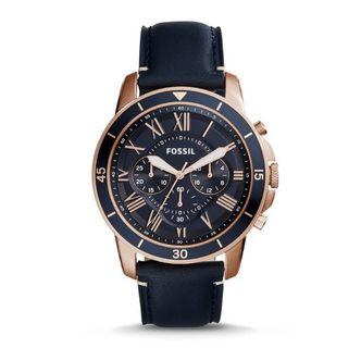 Fossil Men's Grant Sport Chronograph blue leather Watch