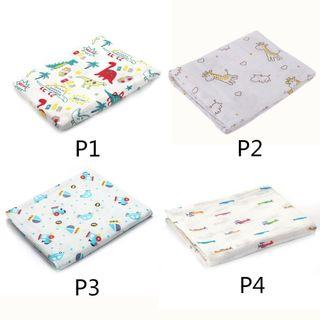 New Designs Muslin Swaddle 120cmx100cm 1 for $6.50 2 for $12