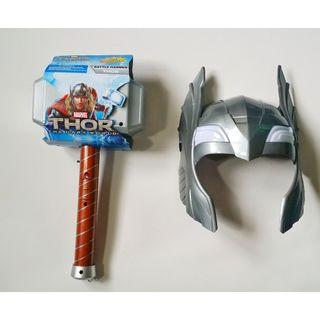 Thor Mask and Thor Hammer Mjolnir