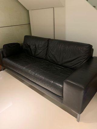 Italian Made Nicoletti genuine leather sofa - $4k