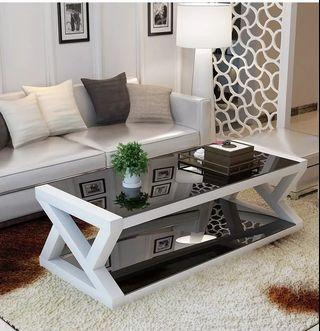 🚚 Tempered Glass Coffee Table
