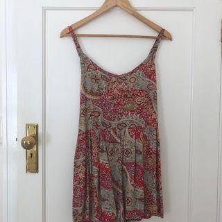 Paisley Red Playsuit Size S