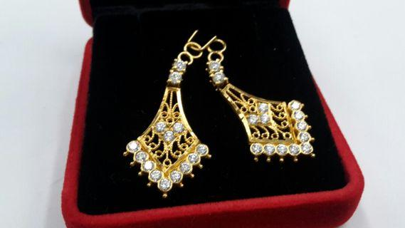22k Gold Ear Ring Accessories (O21)